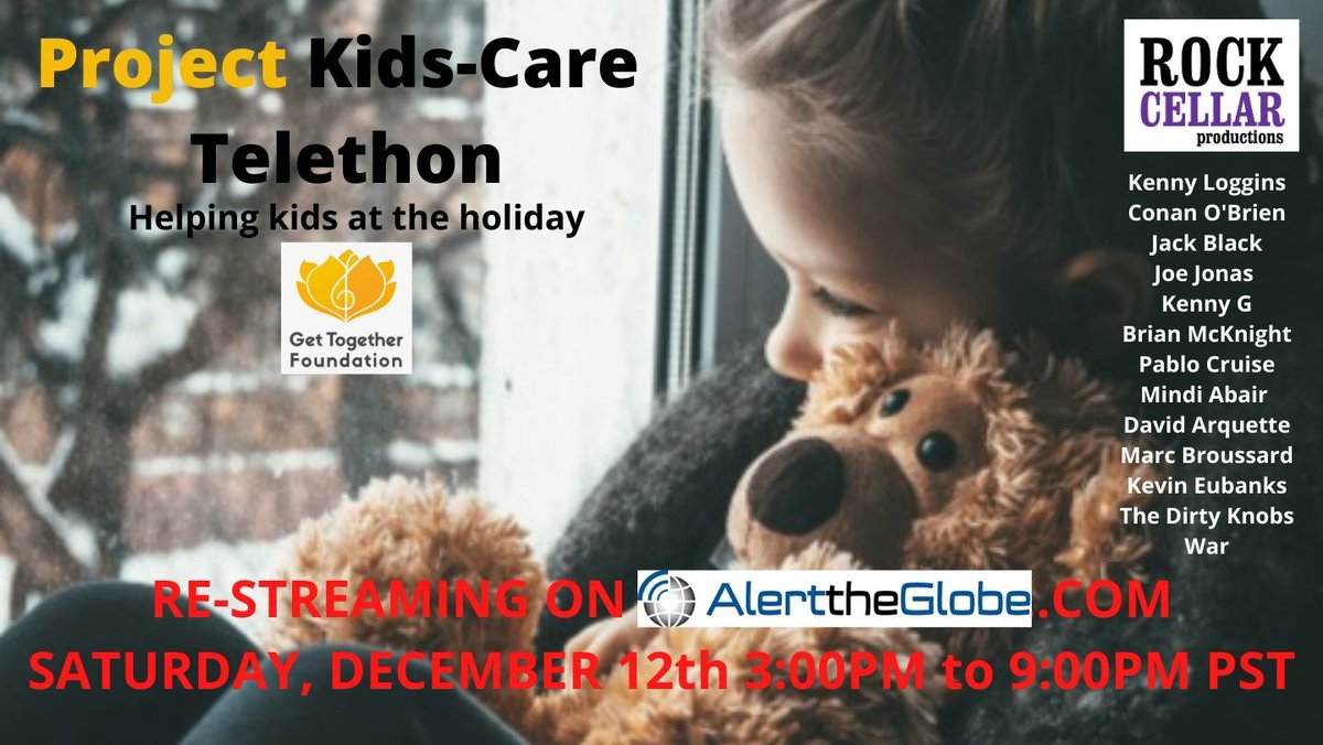 If you missed our music telethon you can catch it this Saturday Dec. 12th starting at 3:00 pm PST at   And even if you can't watch, we could still use your help! Text the word TOGETHER to 24365.