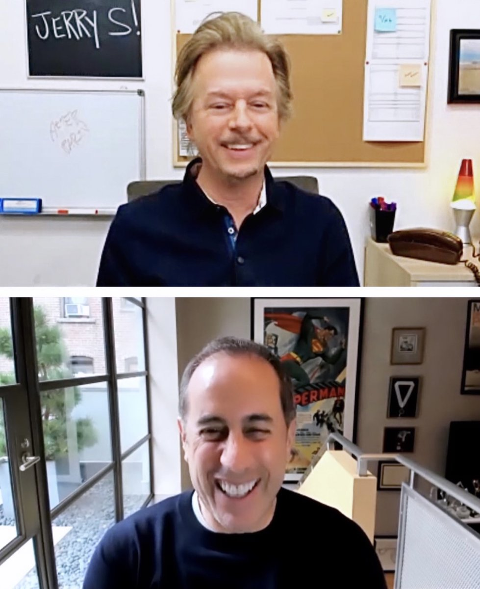 """Jerry sits down in the bunker talks about his new book """"Is This Anything?"""" We laugh about comedy, working together in San Diego & why I wore sleeveless shirts @jerryseinfeld. Watch 1st half here:  Practicing interviewing for #afterparty on #netflix this Sun"""