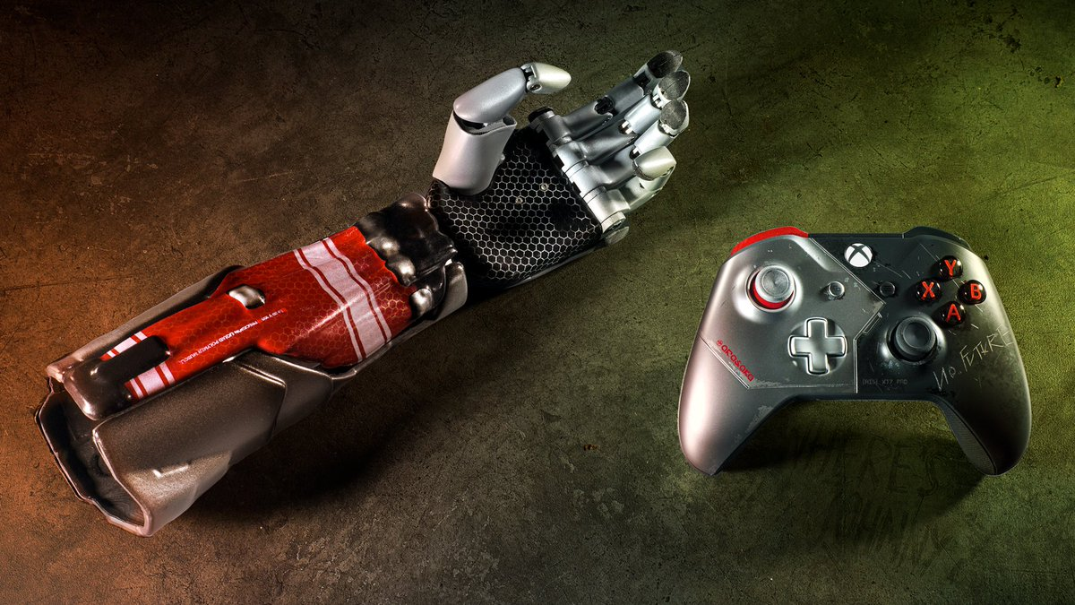 You don't need a cybernetic arm to use this controller. It just looks really, really cool.  Follow @Xbox and RT this with #Cyberpunk2077Sweepstakes for a chance to win both and live out your Night City fantasy.  Ends 12/17/20. Rules: