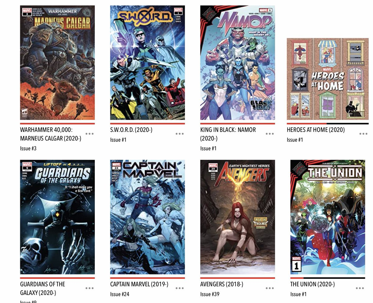 Wowee! What a #NCBD this week - my lengthy #MarvelsPullList this week was #HeroesAtHome, #Avengers, #WarhammerMarneusCalgar, #KingInBlackNamor, #SWORD, #CaptainMarvel and #GuardiansOfTheGalaxy. So awesome. So much goodness.