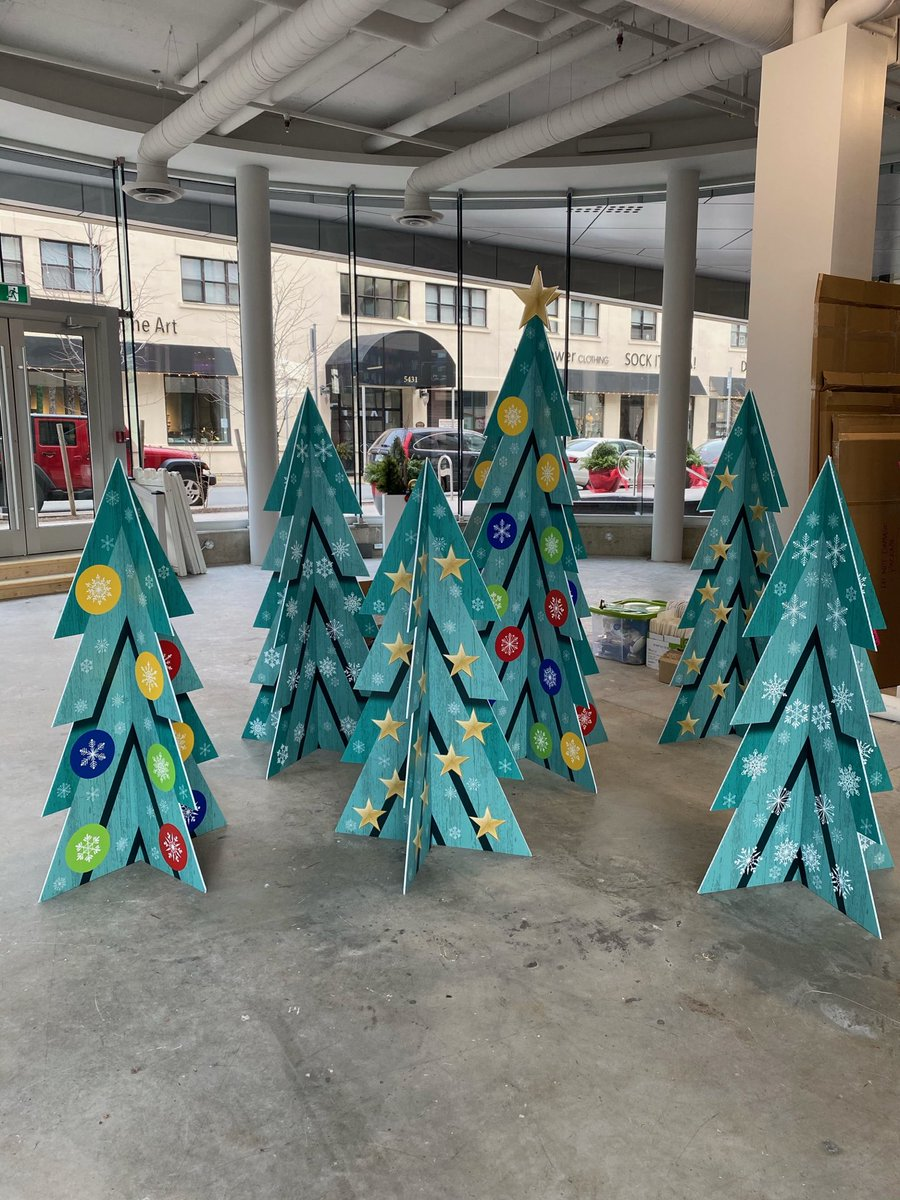 """We can't leave #TheDoyle bare during the holidays! Our new """"Forest"""" created by @Advocate1891 will keep the coming weeks bright @WestwoodDev"""