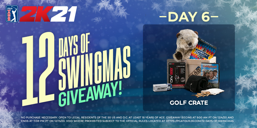 All we want FORE the holidays is GOLF! 🎤  And let's add in a really awesome Golf Crate!    RETWEET with #12DaysOfSwingmas & #giveaway & make sure you FOLLOW @PGATOUR2K to enter.   Rules: