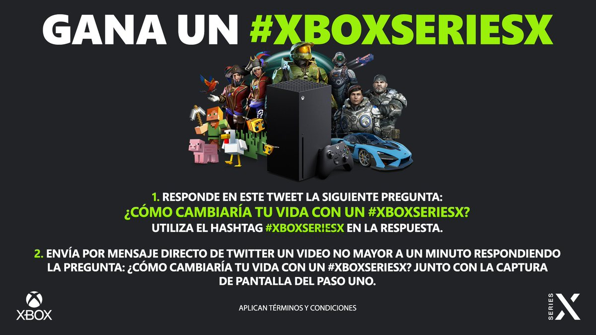 Ustedes lo pidieron y nosotros se los damos. Participen, es momento de que alguien de nuestra comunidad gane un #XboxSeriesX.   TyC: