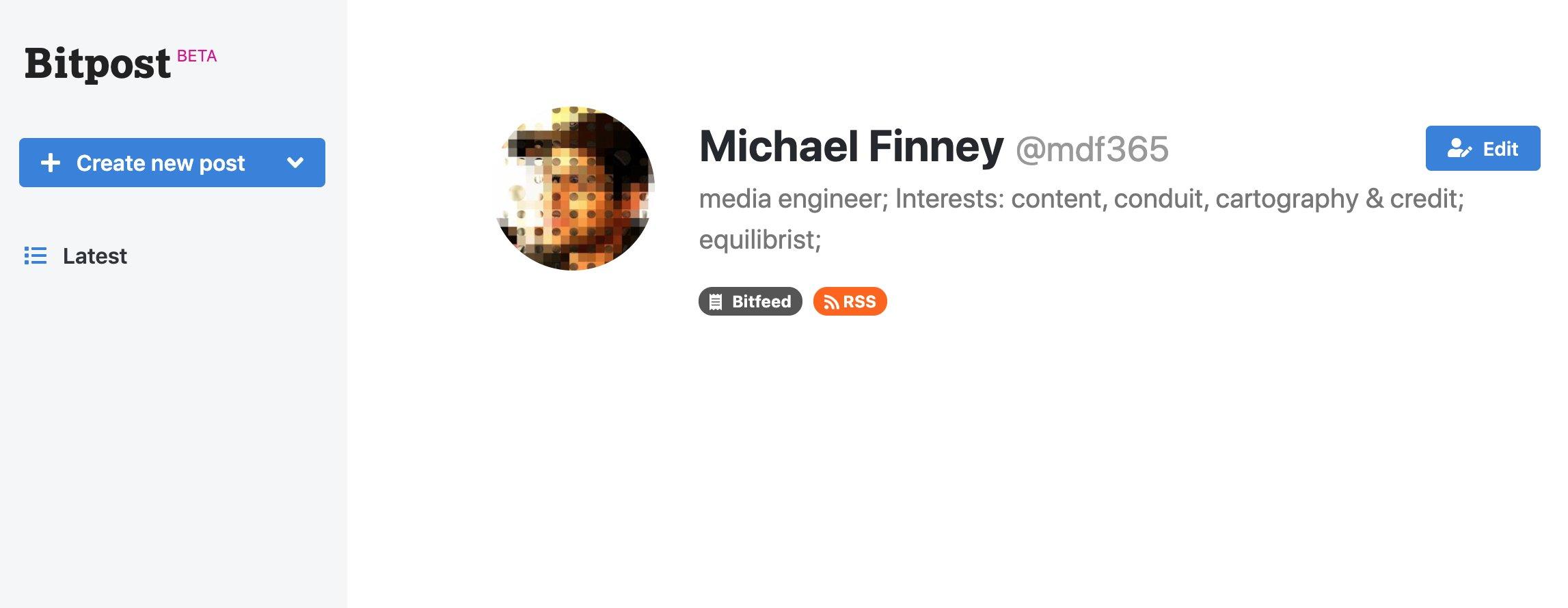 Finney Bitpost bitcoin blogging storage
