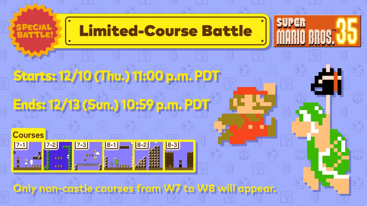 Nintendo Of America On Twitter Let S Take A Trip Outside Of The Castle For The Next Supermariobros35 Special Battle This Weekend Conquer Challenging Courses From World 7 And 8 While Dodging Attacks Or do you prefer holding it behind you for defense?pic.twitter.com/dmfollm4h2. nintendo of america on twitter let s