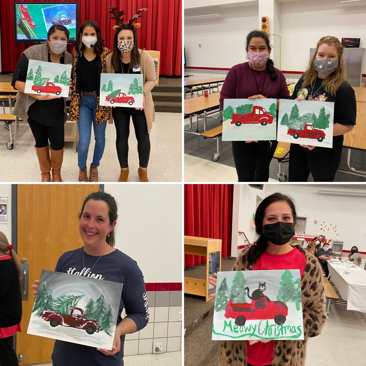 Staff Holiday social! Enjoyed socializing, painting, and relaxing with good friends! @estradac_cfb