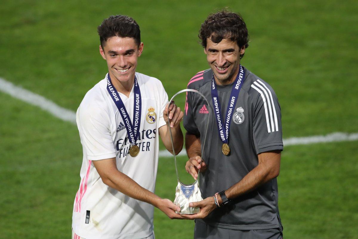A @ChampionsLeague debut for 2020 #UYL winner Sergio Arribas 👍  Learning from the best at @realmadrid 🤩