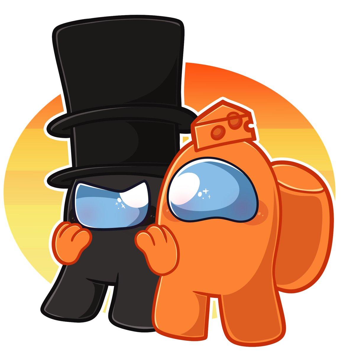 Saver On Twitter I Love These Two Amonguslogic Amongus Gametoons Thegentleman Mrcheese Amongusfanart Amongusgame
