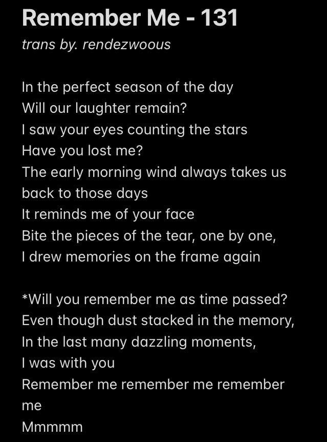Remember Me - Kim Hanbin Eng lyrics trans.  ❤️   #RememberHanbin