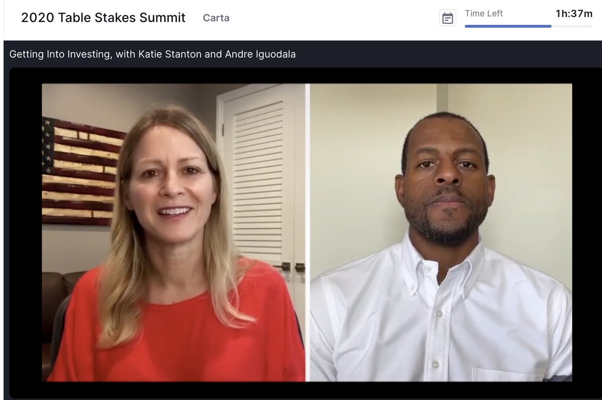 ☀️ Bright spot of 2020: interviewing @andre, a tremendous athlete, author, investor and human! Thank you for giving @MoxxieVentures this honor, @andre @jane_eliz_alex @cartainc and @tablestakes!