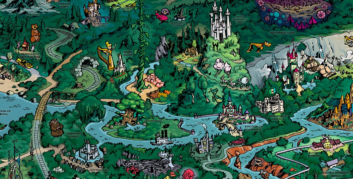 CLOSER LOOK: Explore enchanting locations and cool castles on the #D23FantasticWorlds map: