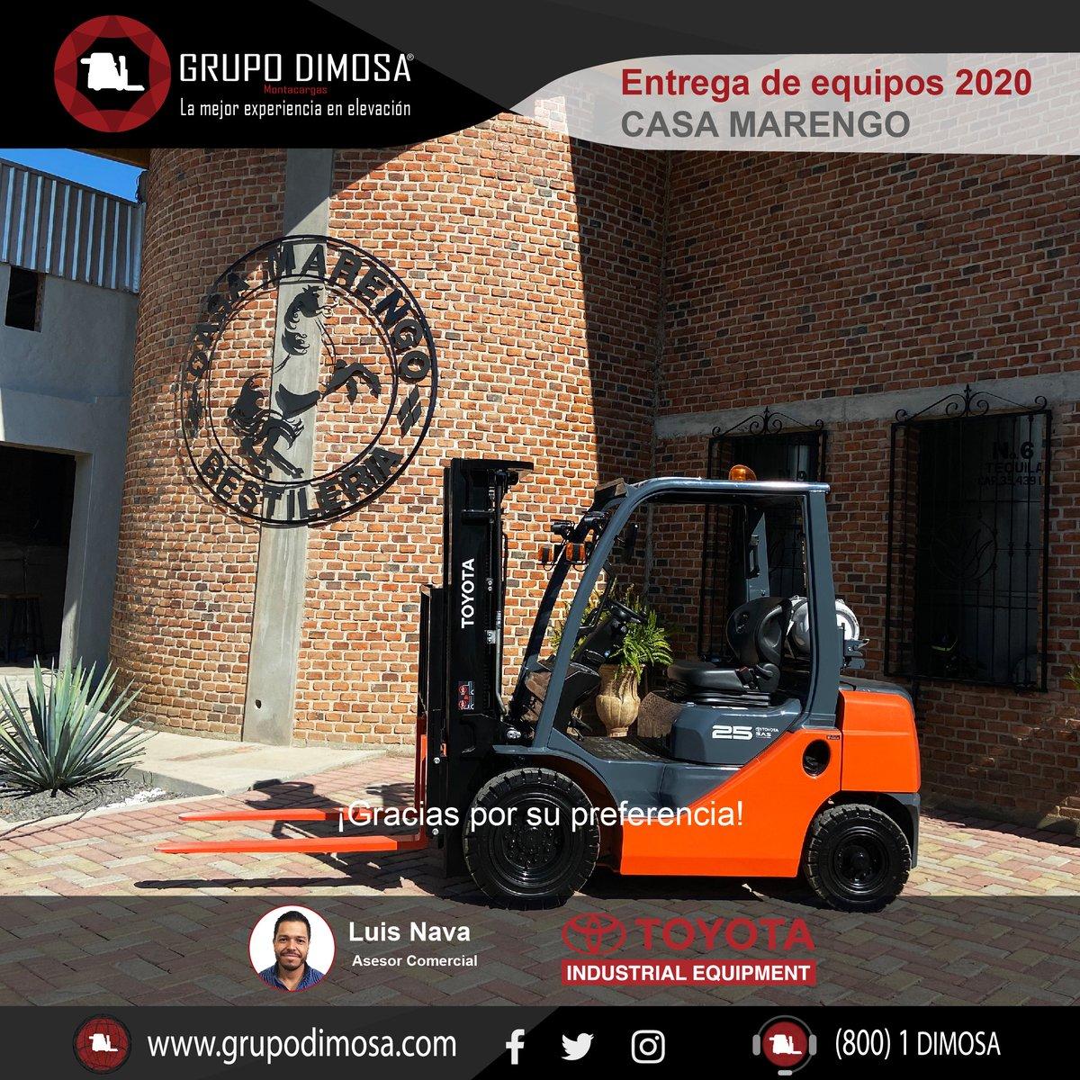 Entrega de equipo Toyota 328FG25  ¡Gracias por su confianza Destilería Casa Marengo, Tequila González Lara!  ¡Nos sentimos orgullosos del #grantrabajo realizado por nuestra asesor comercial Luis Nava!  ¡Contáctanos! 🌐 📲(33) 38102002