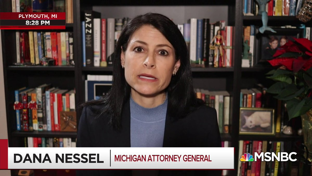 .@dananessel is done. If you don't know who she is—she is the AG of Michigan and she has no fucks left to give and it's giving me life.