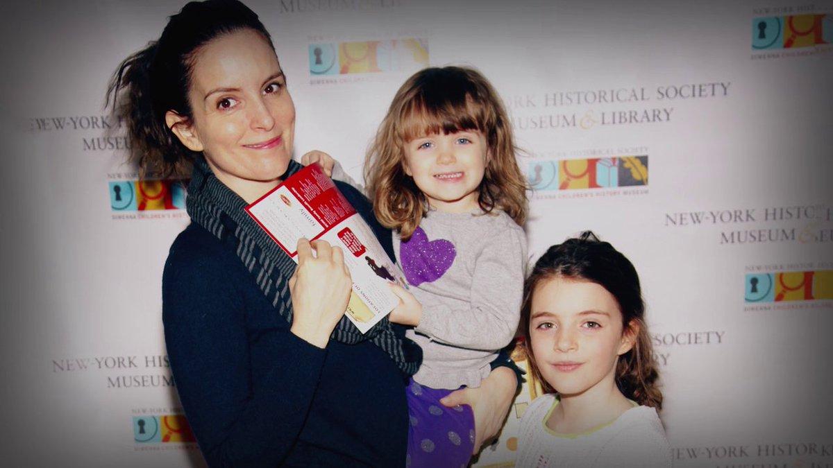 #MyNextGuestNeedsNoIntroduction con David  @Letterman - #TinaFey - Con sus hijas Penelope y Alice