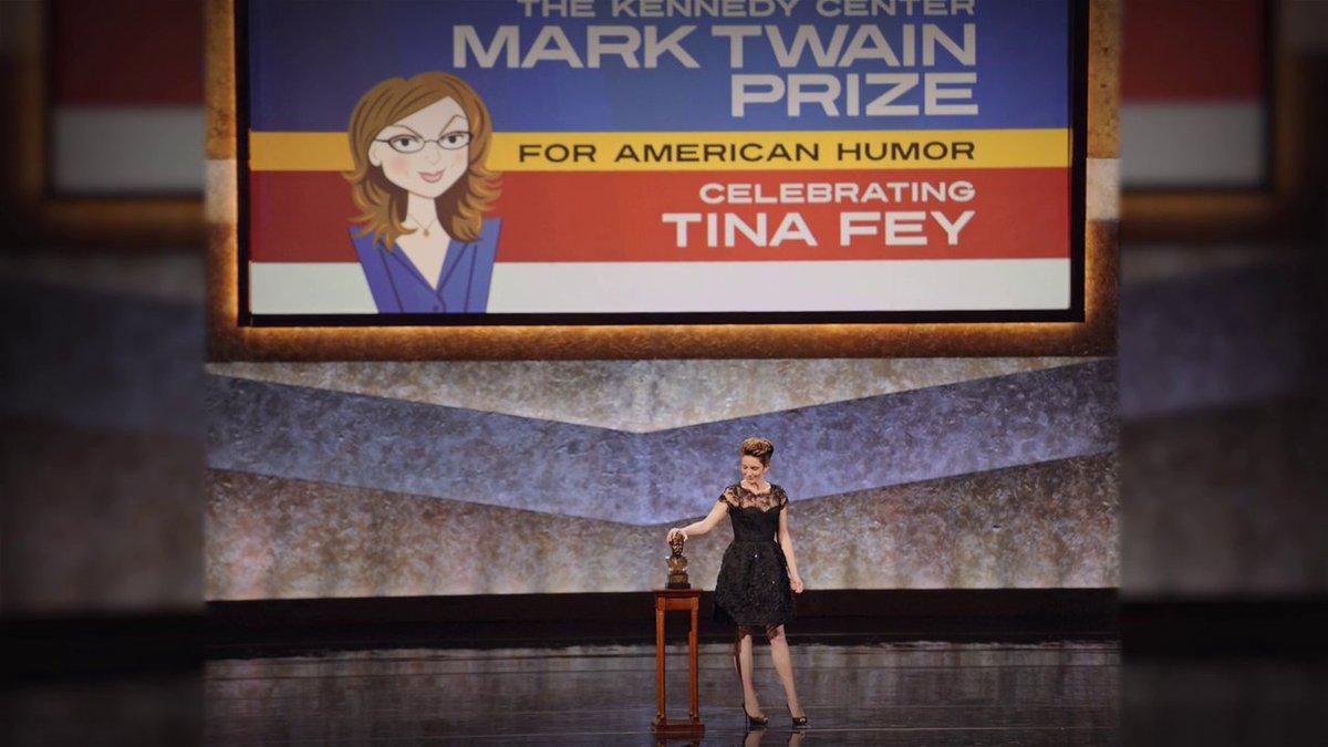 #MyNextGuestNeedsNoIntroduction con David @Letterman - #TinaFey  - El Centro Kennedy @kencen le otorgo el premio #MarkTwain al humor americano