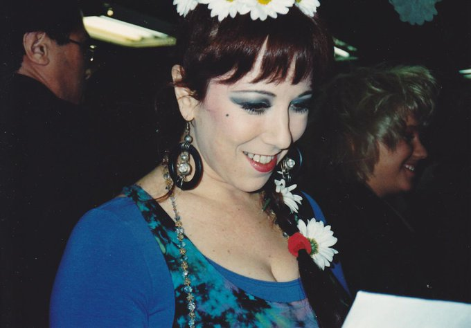 I feel pretty. Oh so pretty...  New found vintage Sprinkle in tie dye with daisies in my hair. NYC 1990s