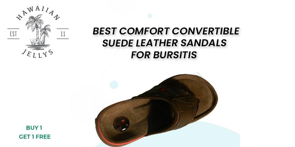 Best Comfort convertible suede leather sandals for bursitis #flipflops #sandals #feet #leathersandals #Slipaaahs #slippers #flipflopseason #fashion #summer #hawaiianjelly #shoes #dressshoes #onlineshopping #foot #heels #kidsfeet #chinelo #convertiblesandals #patrioticsandals #usa