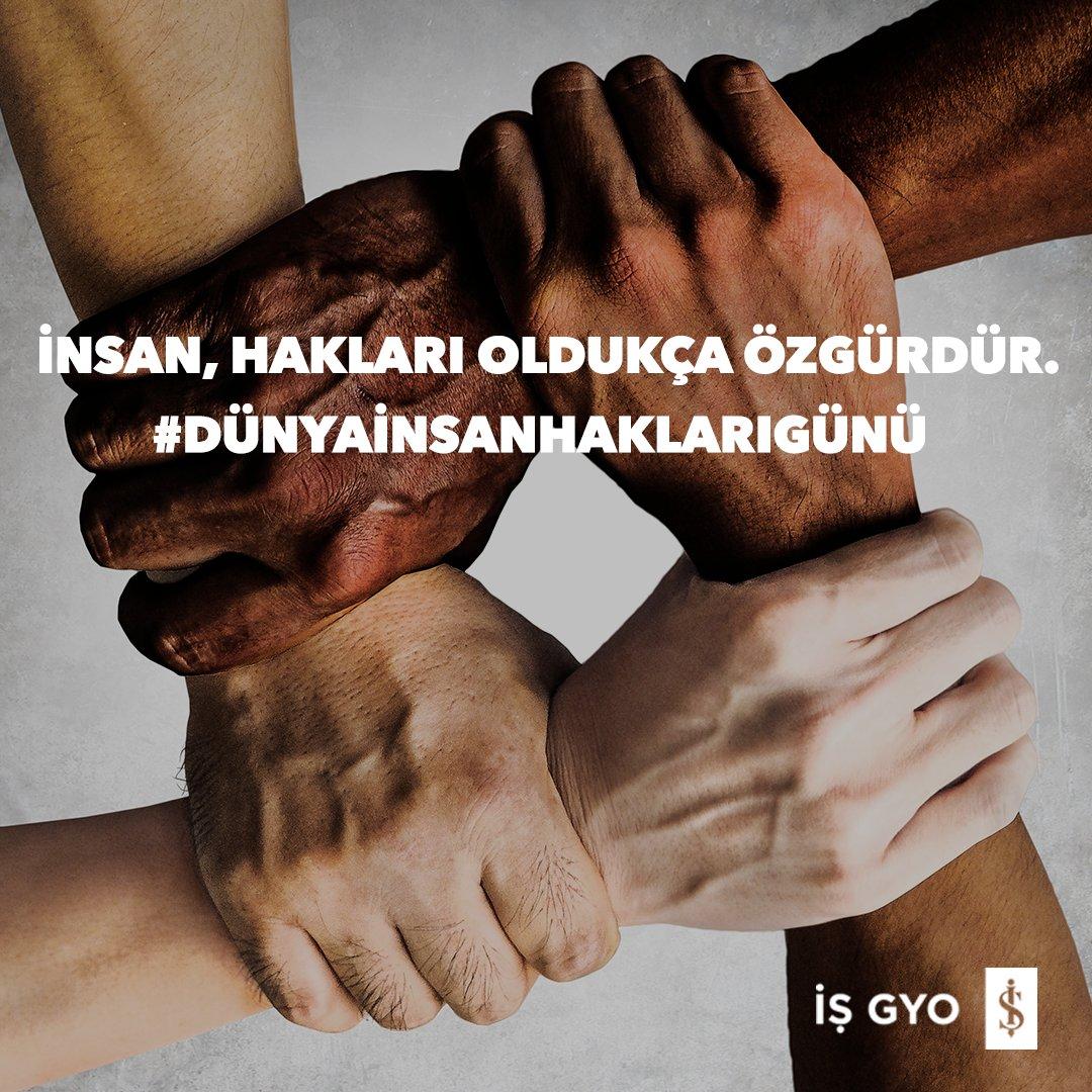 Dil, renk, ırk, cinsiyet, siyasi görüş ve din ayrımı yapmaksızın her insan özgür ve eşit şartlarda yaşama hakkına sahiptir. 10 Aralık Dünya İnsan Hakları Günü kutlu olsun.   #işgyo#isgyo #insanhakları#dünyainsanhaklarıgünü #worldhumanrightday https://t.co/GJhtGa2kx0