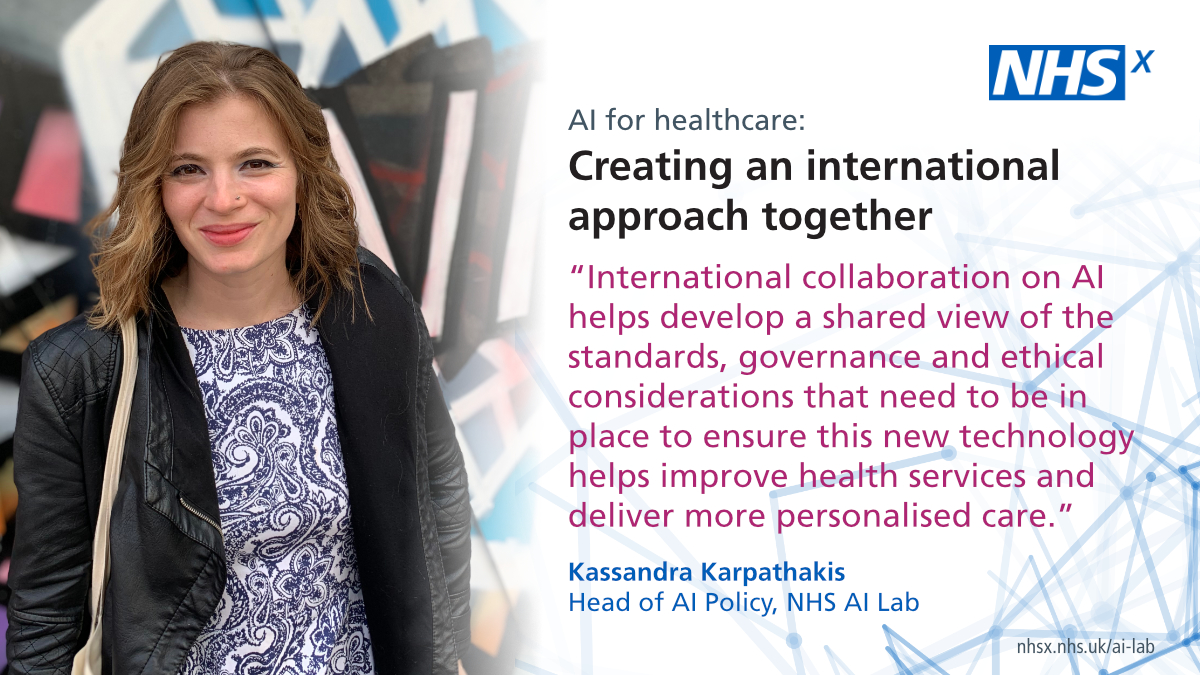 .@NHSX has written a paper on behalf of the @GDHPartnership to help policy makers & health and care professionals across the globe safely adopt AI-driven tech that meets the needs of patients.  The paper encourages international collaboration on AI.  1/3