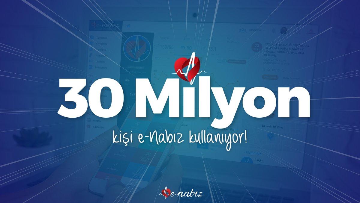 30 Milyon Kişi Tüm Sağlık Bilgilerine e-Nabız'dan Ulaşıyor!