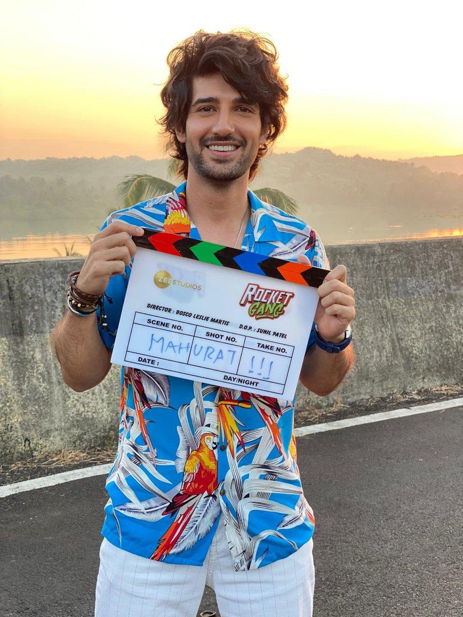 #AdityaSeal kick starts shooting for his next project #RocketGang.