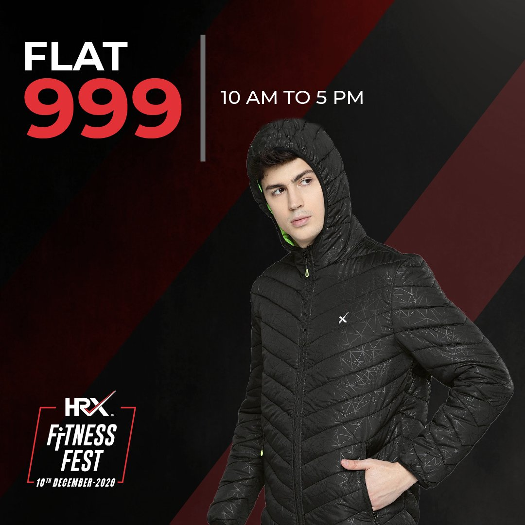 Want to #KeepGoing? Why not do it in style with the #HRXFitnessFest? 😎  3 simple steps: Head to Myntra where gear is at FLAT 999 until 5 PM. Shop your heart out, and get ready to #TurnItUpWithHRX.  Ready? Set. Go: