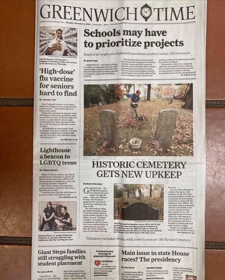 @ourmammys All three of our ancient #Byram burial grounds, including our #AfroIndigenous Colored Cemetery, are now being looked after by neighbors. We are grateful for their help and their positive energy. The gentrifiers have left the area. #BlackCemeteriesMatter #Greenwich #BLM