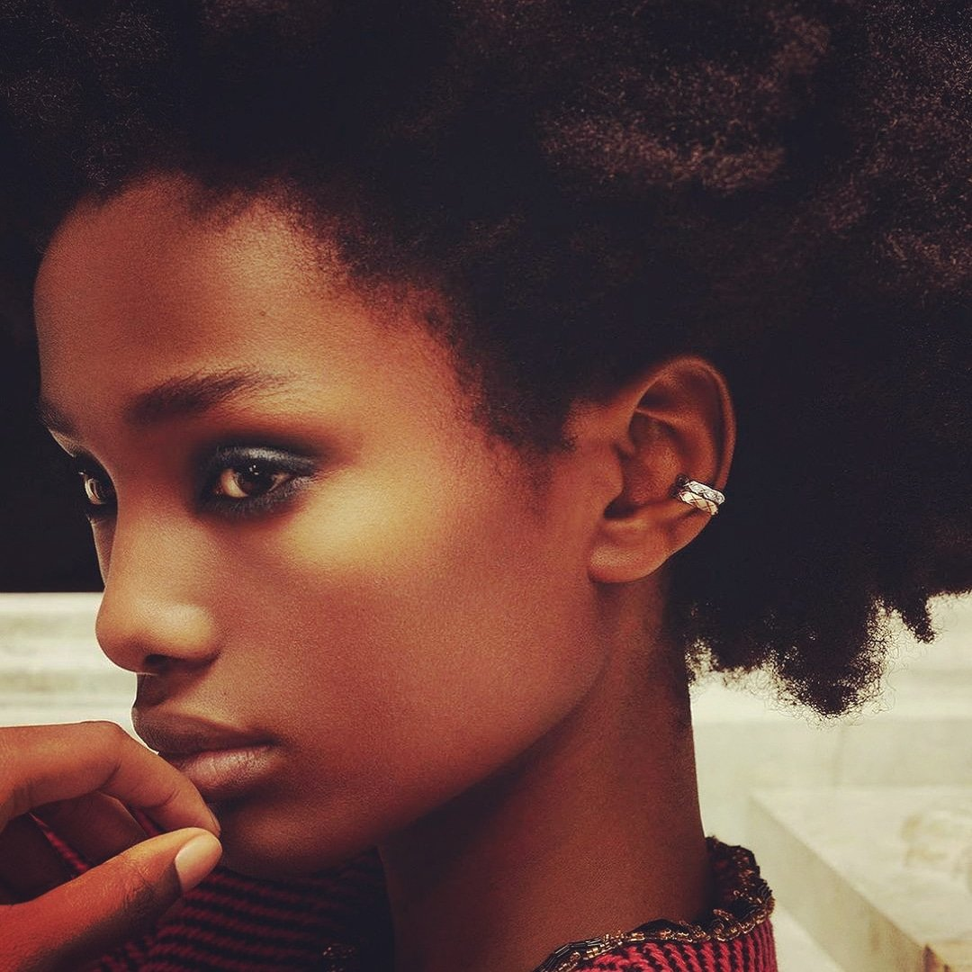 Loving @CHANEL ❤ A CHANEL Dream Never Fades  Model Imari Karanja wears COCO CRUSH earrings in BEIGE GOLD and white gold set with diamonds.   Link in bio at CHANEL.  Find your CHANEL boutique at CHANEL and . ❤💕💙💜  #CHANELDreaming #CHANELFineJewelry