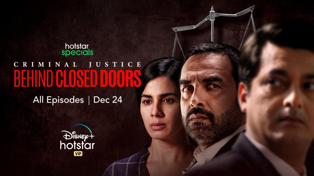 #Exclusive - First Look of #CriminalJusticeBehindClosedDoors   The @ApplauseSocial production begins to stream from 24th Dec @DisneyPlusHS @IamKirtiKulhari @TripathiiPankaj @Jisshusengupta #AnupriyaGoenka @nairsameer