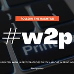 Image for the Tweet beginning: Follow hashtag #w2p and stay