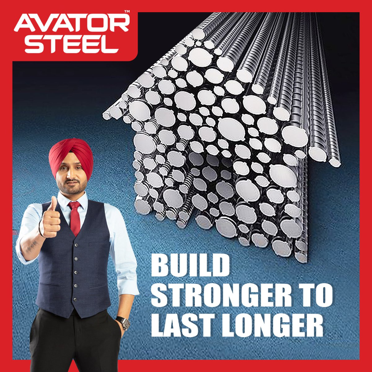 Build your dream home with the best quality TMT bars like #AvatorSteel TMT bars to give the ultimate protection and also to save cost and time of construction.  @harbhajan_singh
