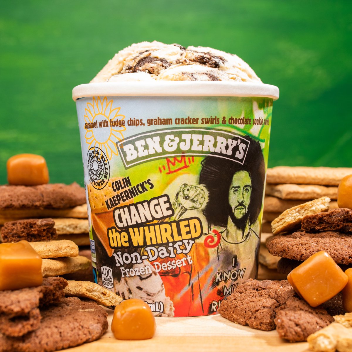 I've teamed up with @BenAndJerrys to serve up joy on the journey to justice!    Today, we're excited to introduce Change the Whirled, a new non-dairy flavor that hits shelves in early-2021!    100% of my proceeds will go to @yourrightscamp with matching support from Ben & Jerry's https://t.co/OouYwUXPXK
