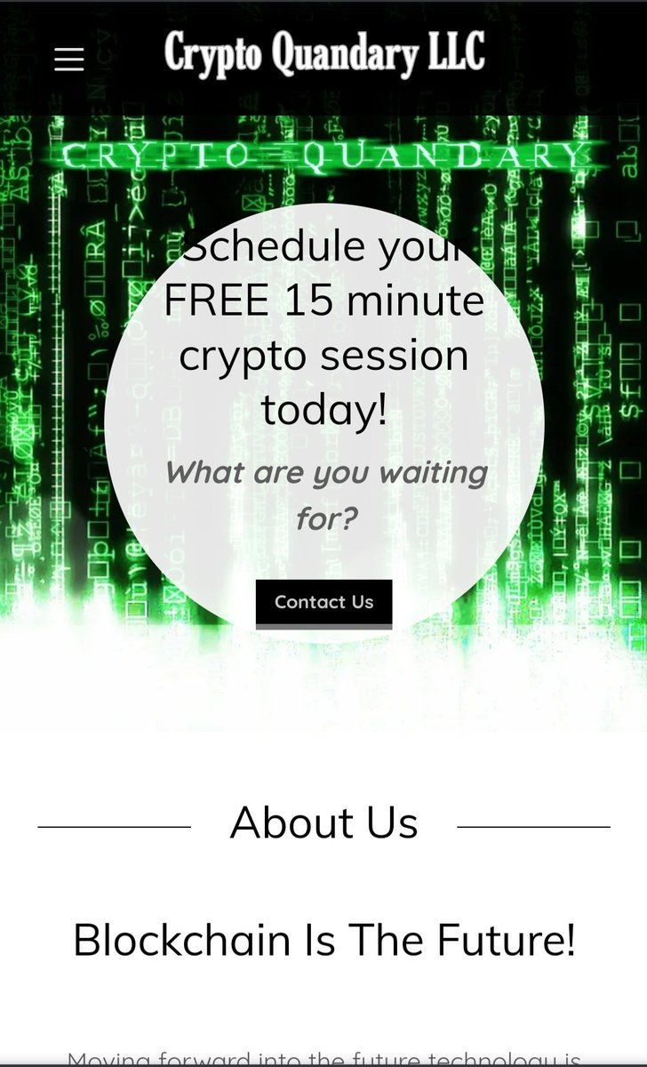 New website is up and operating! #cryptocurrency #blockchain #cryptoquandary New to crypto and looking to learn more?  Well.. what are you waiting for?  Must learn before you can earn!