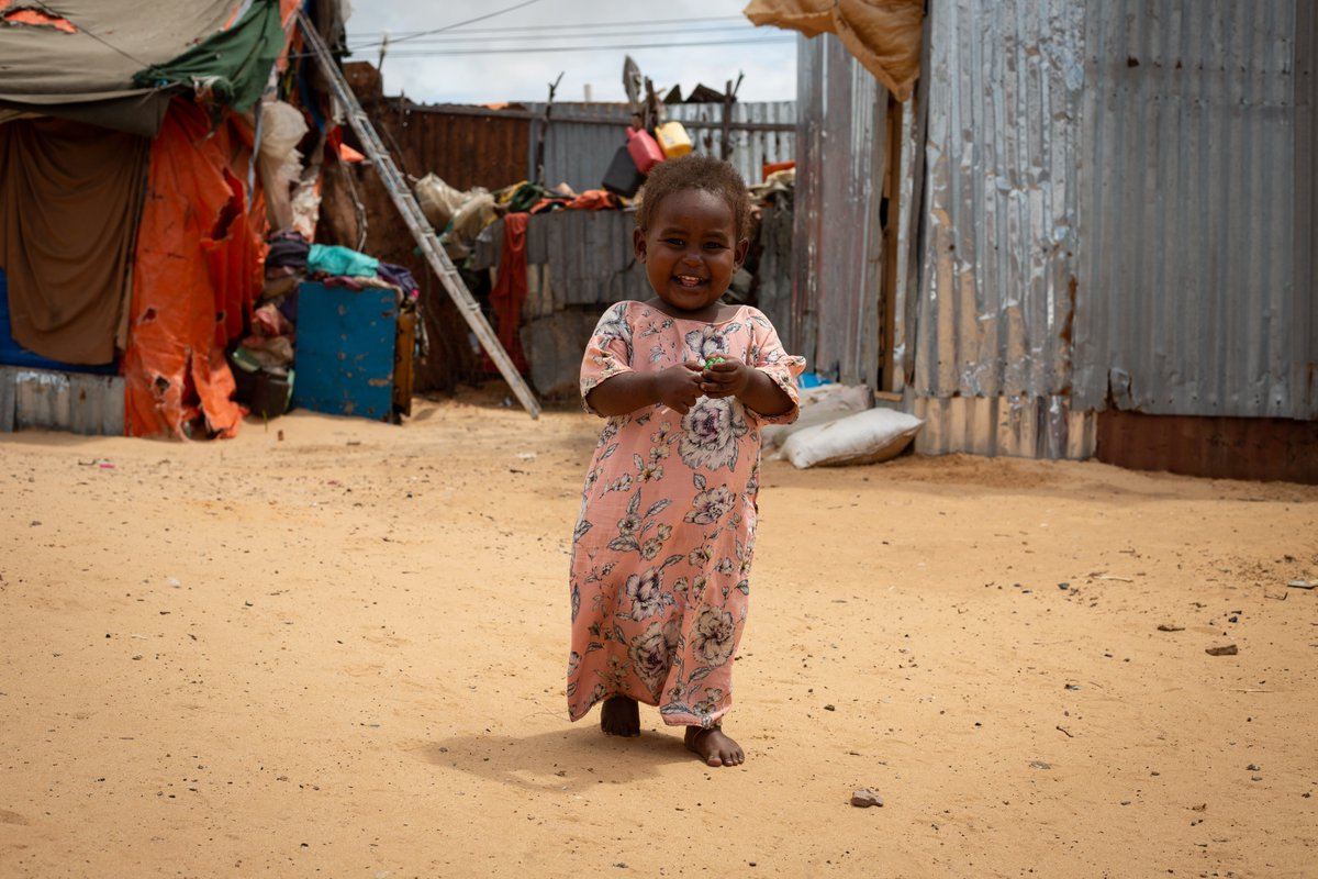 Months after her treatment, it is hard to tell that Halima was ever malnourished - she walks, plays, and laughs like any other two-year-old child.