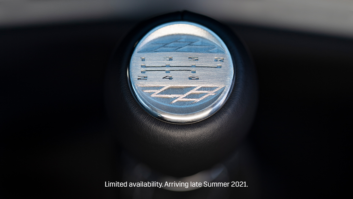 The 2022 V-Series Blackwing vehicles are rounding the corner, and feature a standard 6-speed manual transmission. Are you ready? #LongLiveTheManuals