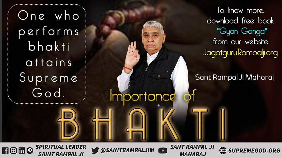 #GodMorningWednesday  IMPORTANCE OF TRUE BHAKTI  One will suffer in the lives of animals without performing bhakti auspicious deeds. Must Watch Sadhna tv-7:30pm @SaintRampalJiM  For More Information Visit Satlok Ashram YouTube Channel #ThursdayMorning