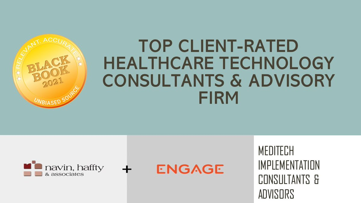 Black Book Research On Twitter The Black Book Top Rated Healthcare It And Management Advisory For 2021 Were Announced Today 1 Meditech Implementation Consultants Navin Haffty Associates Providence Services Group Https T Co Pr8cc5wkge
