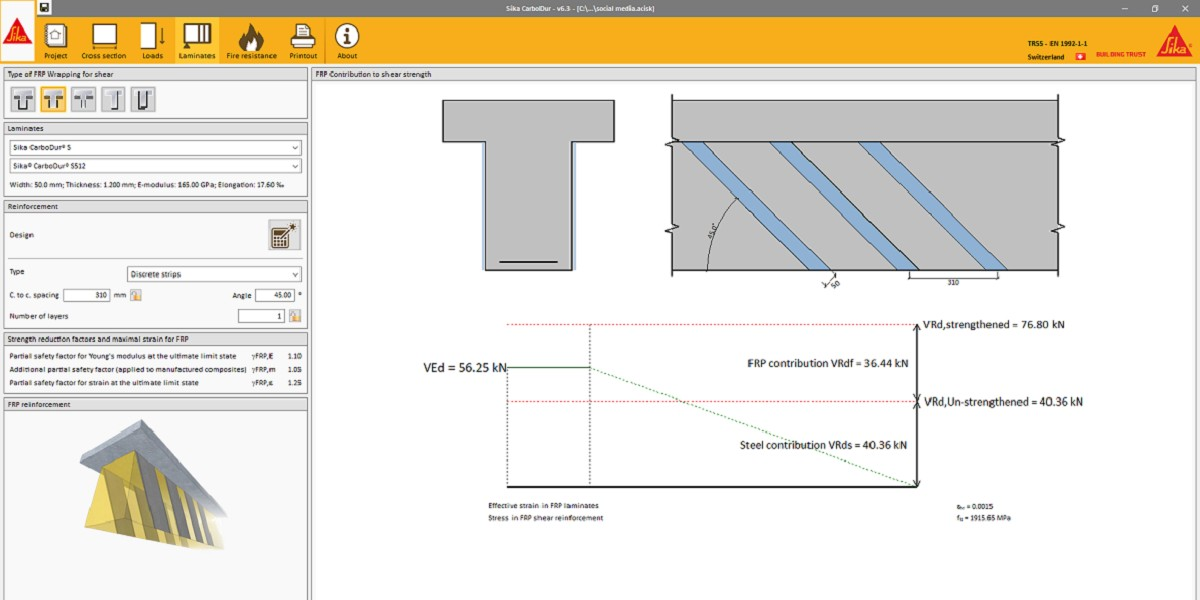 𝗦𝗶𝗸𝗮® #𝗖𝗮𝗿𝗯𝗼𝗗𝘂𝗿® freeware is a well-known and powerful tool used for #FRP #Strengthening calculations by more than 16,000 users worldwide. It was developed by Sika's technical department to share their know-how and experience.  Learn more: https://t.co/08k7ylXvFr https://t.co/yn1pJjBmpH
