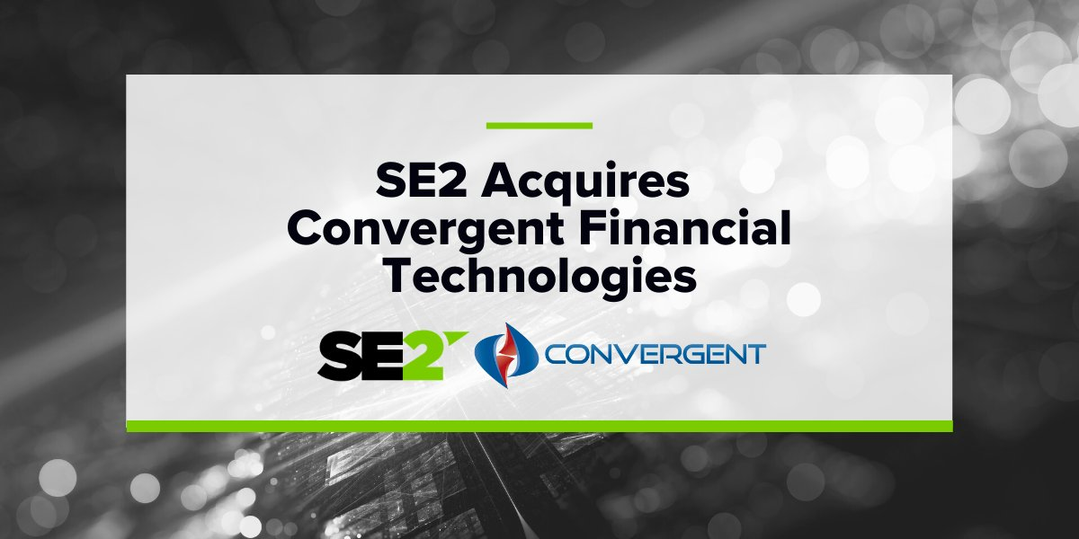 We are pleased to announce that @SE2LLC has acquired Convergent Financial Technologies Inc, enabling growth and expansion of UV Cloud®. Learn more: https://t.co/ySKBvSOtjb #SE2 #SE2PressRelease #Growth https://t.co/AQtIefy1bI