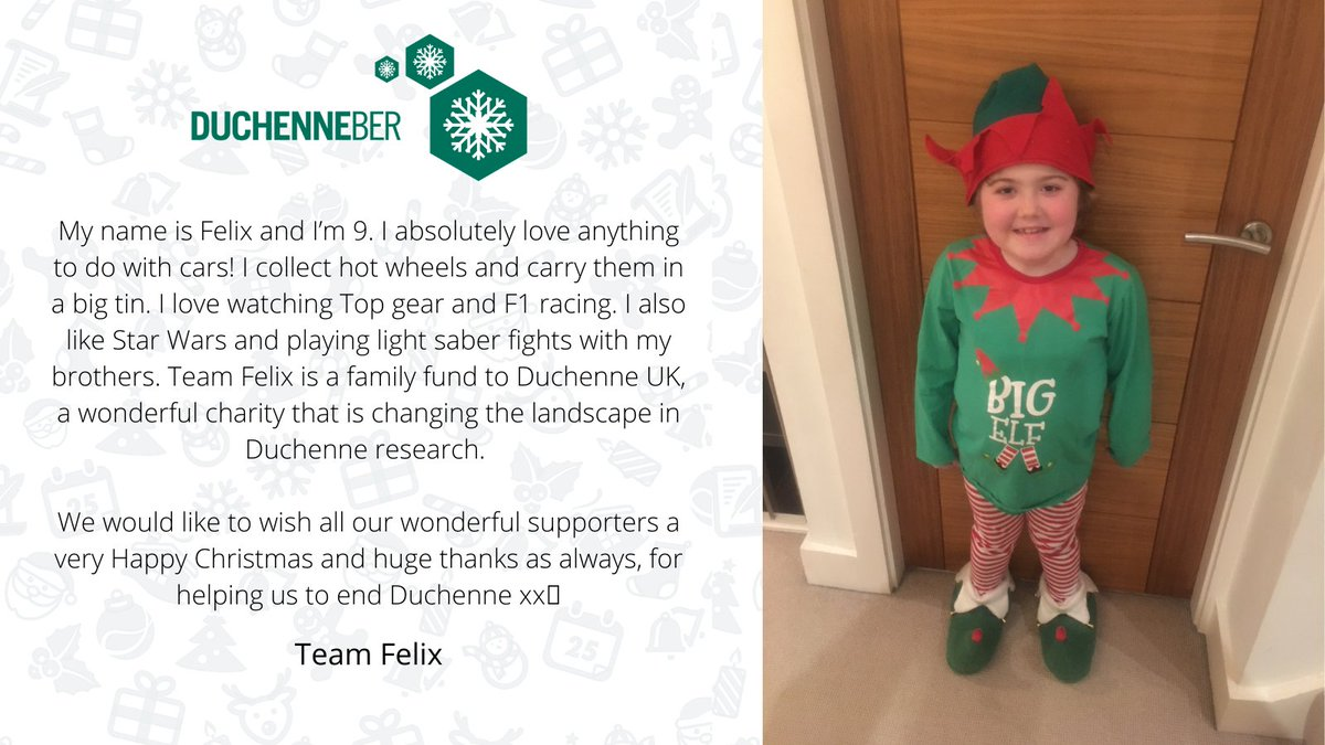 Today is the 17th day of DUCHENNEBER 🎄and we are celebrating Team Felix Donate here: bit.ly/duk-xmas Or text DUCHENNE to 70085 to donate £5 plus standard message rate
