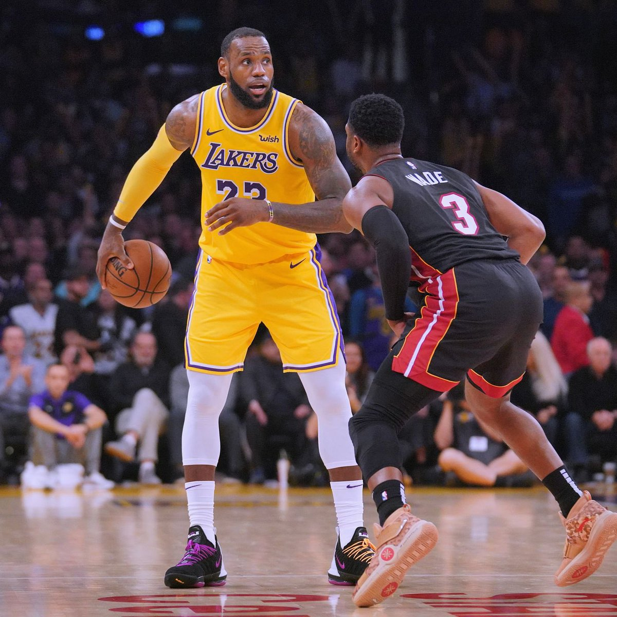 2 years ago today, Dwyane Wade and LeBron James faced off for the final time. It was a sad night for NBA fans, as we all watched these two from the start. Before the game, they were 15-15 against each other, but LeBron's Lakers came out on top. Can't believe it's been 2 years. 😞