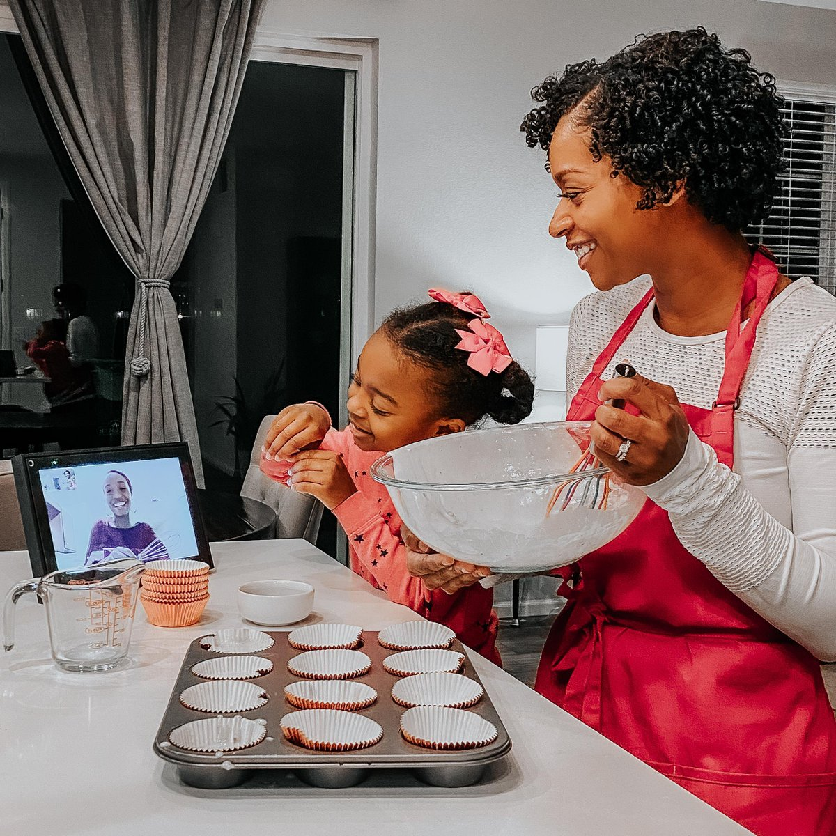 Holidays may look a little different this year, but with Portal, @MahoganyCurls and her sister are still able to keep up with their holiday baking traditions! 🧁What are some of your favorite holiday traditions? 😊 #PortalTraditions