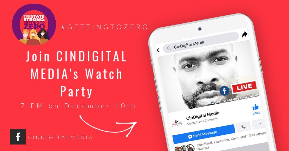 We are working towards #GettingToZero!   @CinDigitalMedia will be hosting a TriState Strong Watch Party to broadcast this inspiring program on Facebook!   https://t.co/ZiVRA7Jpki   #GettingToZero #TriStateStrong https://t.co/FWaJtSIJTu