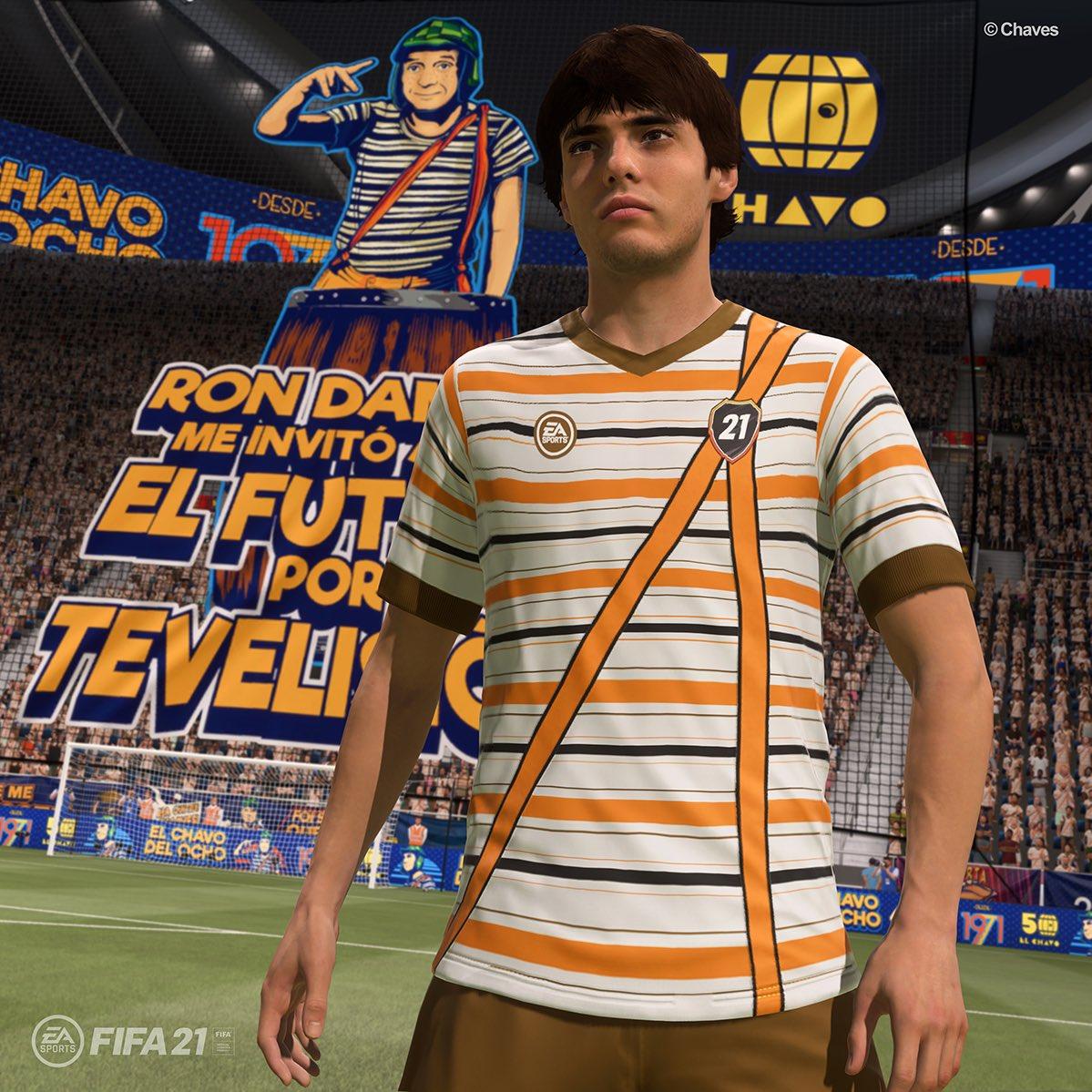 Lá vem o Chaves, Chaves, Chaves!! O que acontece quando você mistura o que há de melhor na nova geração, com o que havia de melhor na antiga? Com certeza, é o pacote de uniforme do Chaves no FIFA 21.    @EASPORTSFIFA  @EAFIFABR  @ChavodelOcho_Of  #ad
