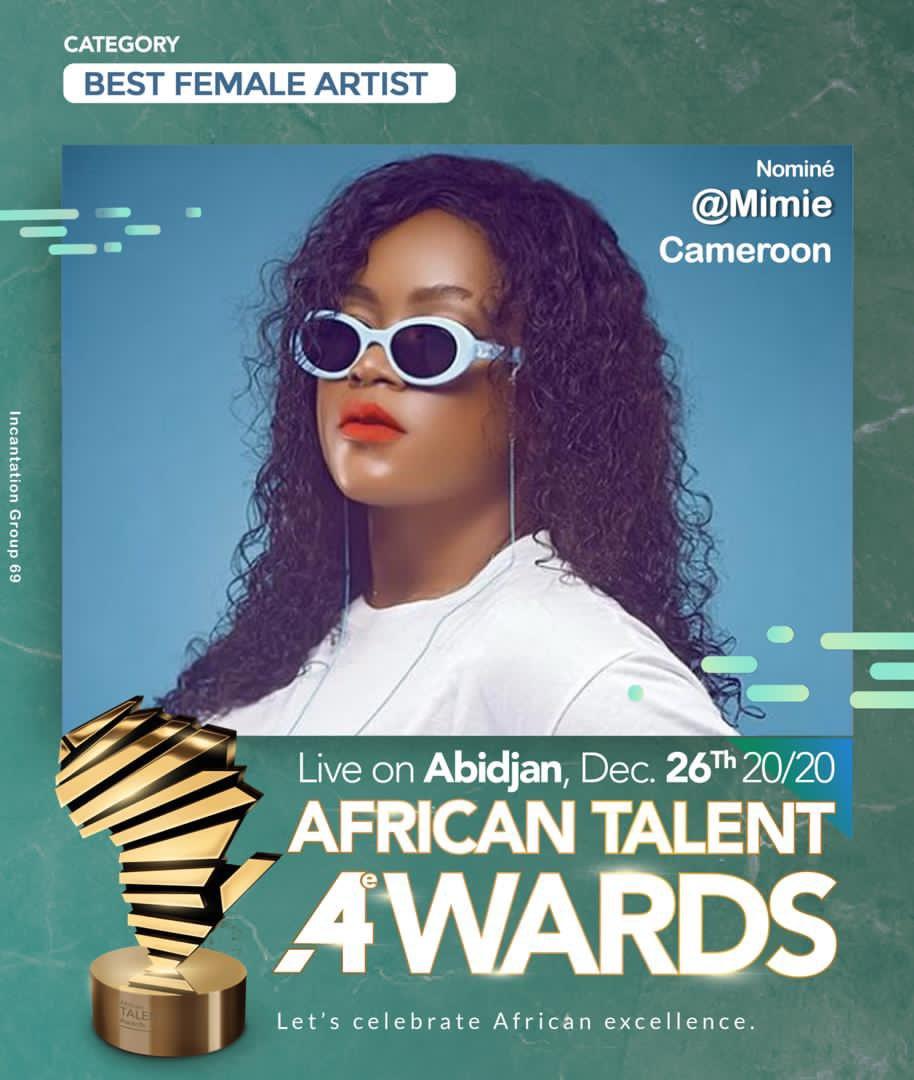 La bonne nouvelle de la journée, Lady @mimieofficielle nominée dans la catégorie «Best Female Artist» au African Talent Awards qui se tiendront à Abidjan le 26 Décembre prochain ✨  Son nouveau single «Ma'aleh» sera disponible dès demain sur toutes les plateformes ! https://t.co/vxOUlzhRcP