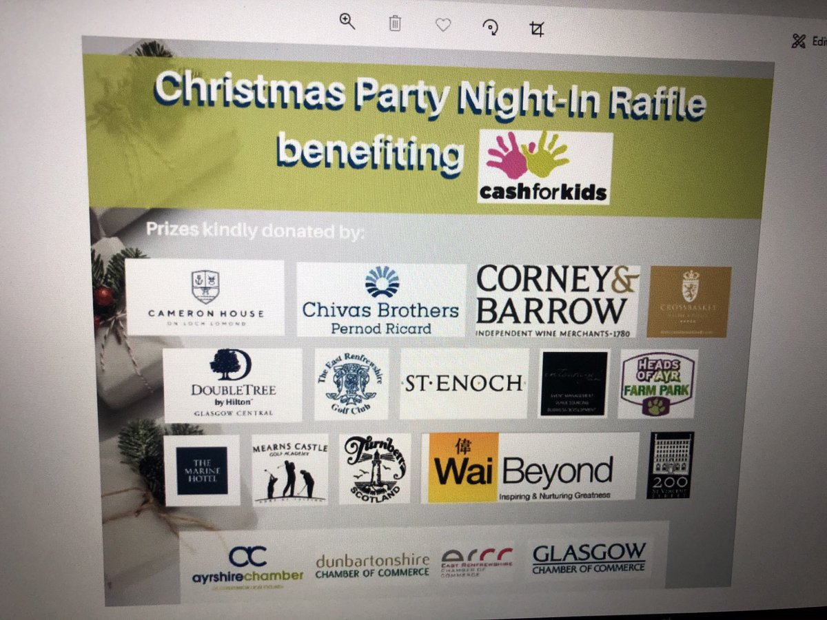 Thank you to sponsors for #chamberjolly raised £1030 for Cash for Kids. Our share will go to ⁦@WestFM⁩