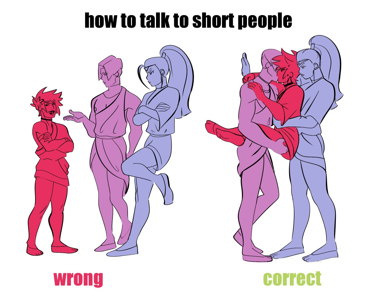 Replying to @tamagosport: how to talk to short people #thanzagmeg #hadesgame