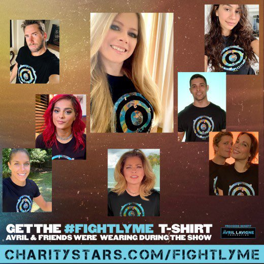 Only 5 days left! Join @AvrilLavigne, @AvrilFoundation & the #FightLyme movement by purchasing your shirt via @CharityStars and sharing the PSA. Your contributions make a huge impact on individuals and families affected by Lyme.  💚