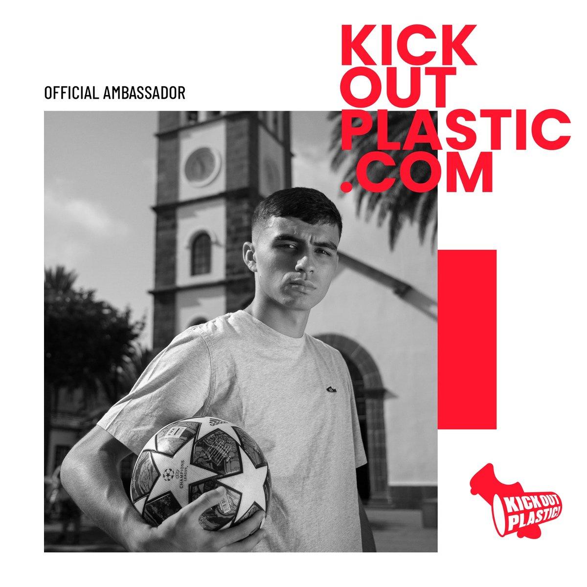 Os presento el proyecto en favor de la sostenibilidad del que formo parte 🤗  El partido ya ha empezado  #KickOutPlastic @KickOutPlastic1