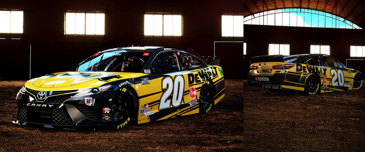 A paint scheme design that ensures confidence for the toughest race track conditions. Take a closer look at @CBellRacing's 2021 @DEWALTtough #Camry paint scheme. #DEWALTTough #TeamDEWALT